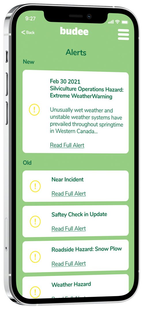 A mobile phone showing various alerts