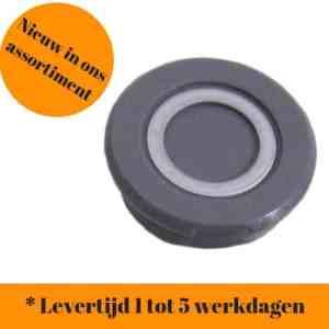 Crankdop zwart grijs