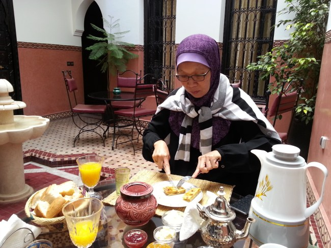 BREAKFAST AT THE RIAD AGDIM HOTEL