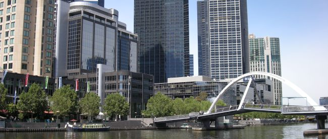 MELBOURNE SKYLINE FROM YARRA RIVER