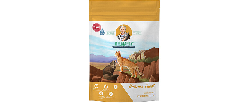 Dr. Marty Nature's Feast Cat Food Reviews 2020