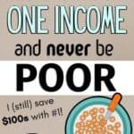 frugal living one income
