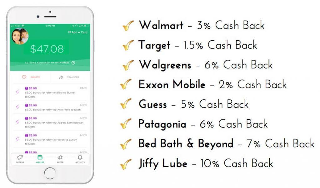 Dosh App Cash Back