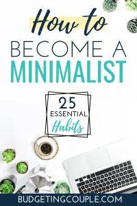 minimal living tips | Budgeting Couple