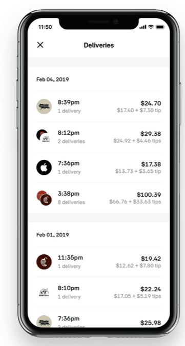 post mates app make $200 in one day