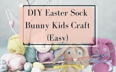 DIY Easter Sock Bunny Kids Craft (Cheap)