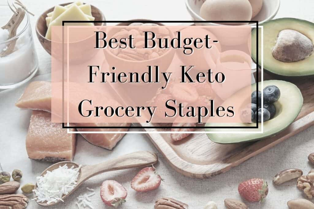 keto grocery list and keto frozen meals