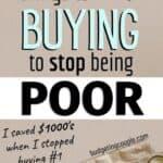stop buying save money