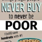 frugal people never buy