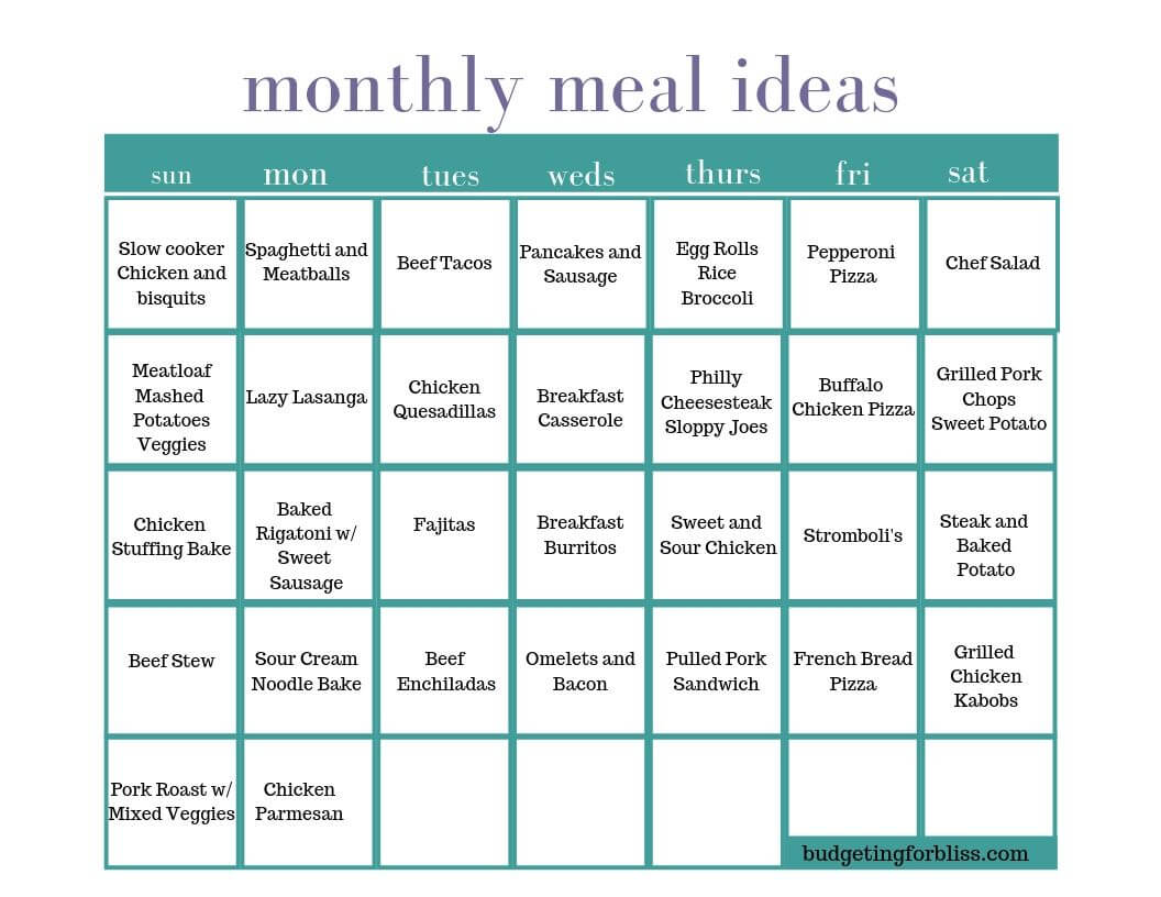 How To Monthly Meal Plan To Save Time And Money