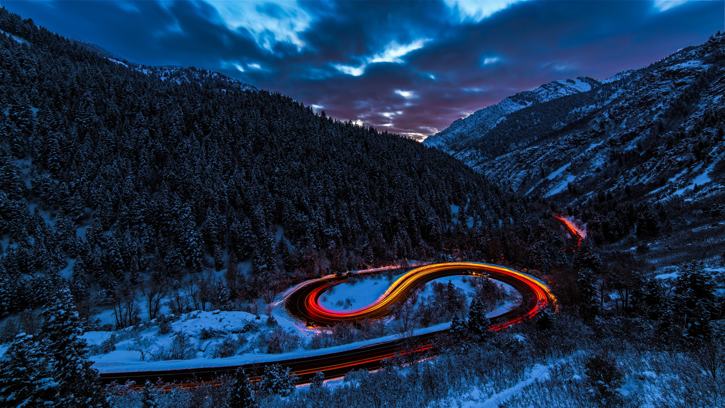 """Saying """"I quit"""" during the pandemic was a lot like this image: a frozen zig zag of emotions on an icy mountain road."""