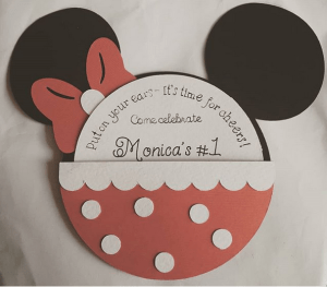 The perfect Minnie Mouse invitation