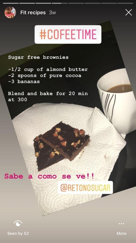 Brownie sin azúcar/ No sugar brownie