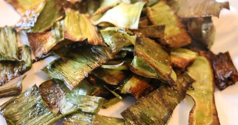 Whole30 Leek Chips (Roasted Leek Stalks)