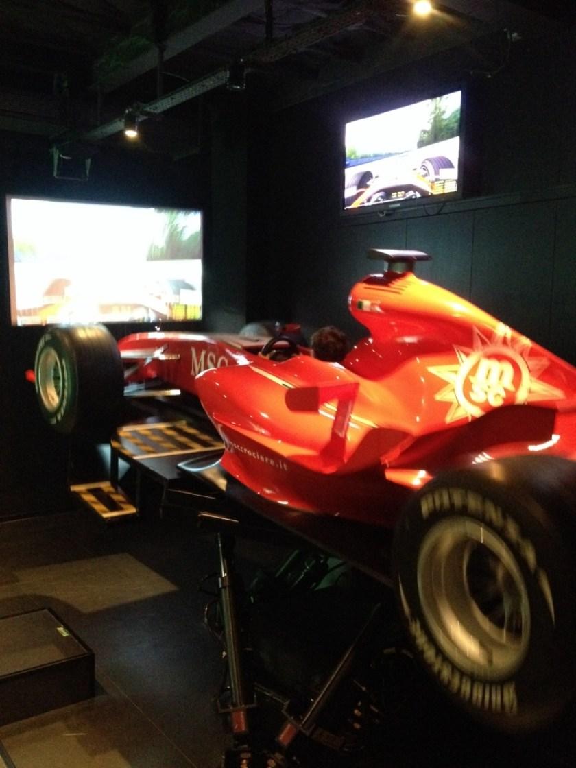 Kids loved the Formula 1 simulator