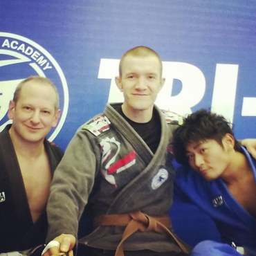 Training BJJ at Tri-Force Osaka