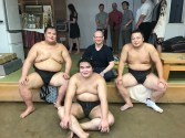 Sumo training in Tokyo