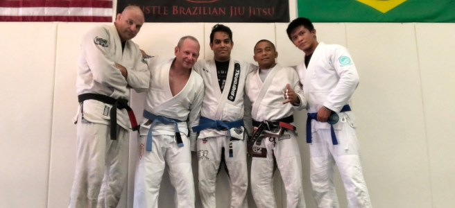 Training Brazilian Jiu Jitsu at Hustle BJJ