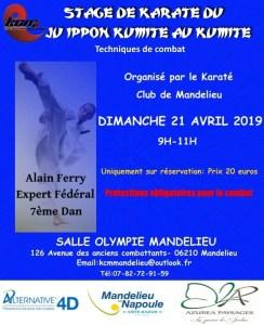 Stage Karaté avec Alain FERRY CN 7e Dan | Expert Fédéral FFK @ Salle Olympie Mandelieu | Mandelieu-la-Napoule | Provence-Alpes-Côte d'Azur | France