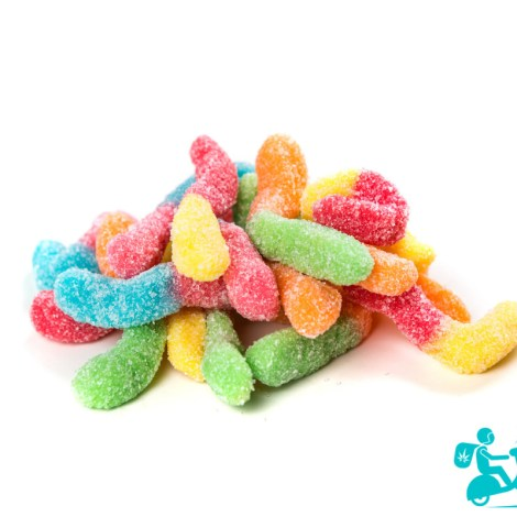THC Sour Gummy Worms 600mg