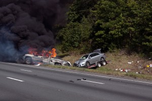 Car fire on 95 Northbound 8-26-2013