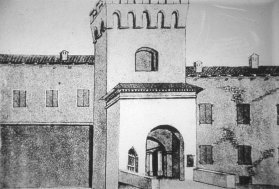 La storica Porta di Sotto, testimone dei tumulti del 1869 (Archivio Montanari-Pazzaglia).