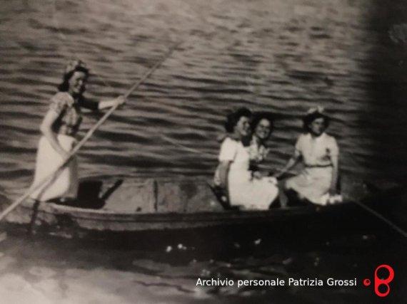 Componenti della famiglia Cervellati di Vedrana, 1944. Foto dell'archivio personale di Patrizia Grossi.