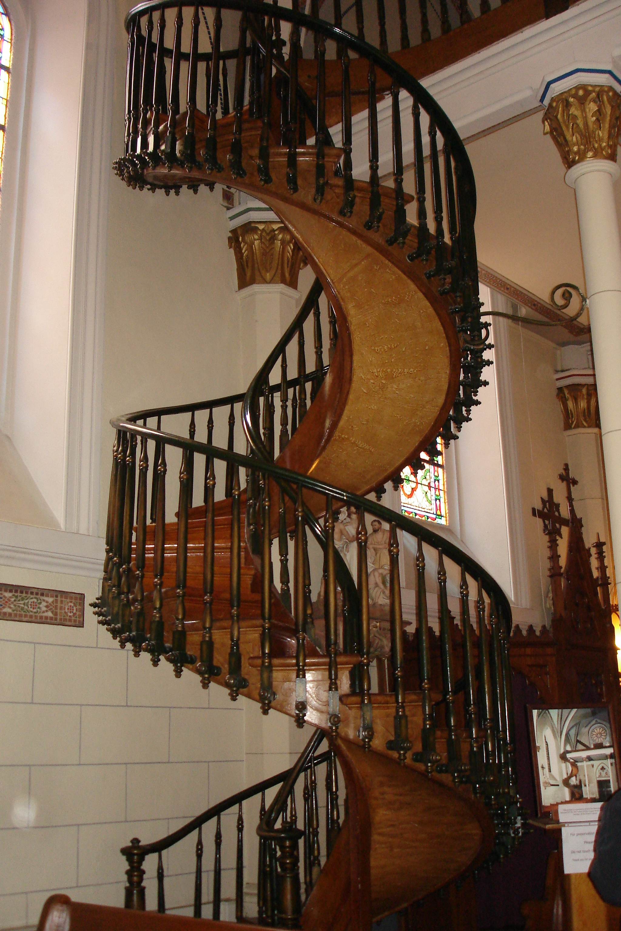 """Miraculous Staircase"""" Is It A Work Of Engineering Genius Or A   Loretto Chapel Staircase Wood   Free Standing   St Joseph   Nm Church Santa Fe   Light   Sister"""