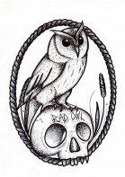 Bad Owl presents logo