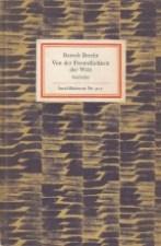Bertolt Brecht - Von der Freundlichkeit der Welt IB Nr. 907
