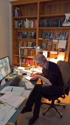Verleger von Berenberg an seinem Schreibtisch @glasperlenspiel13