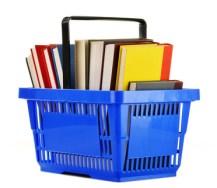Einkaufskorb mit Büchern