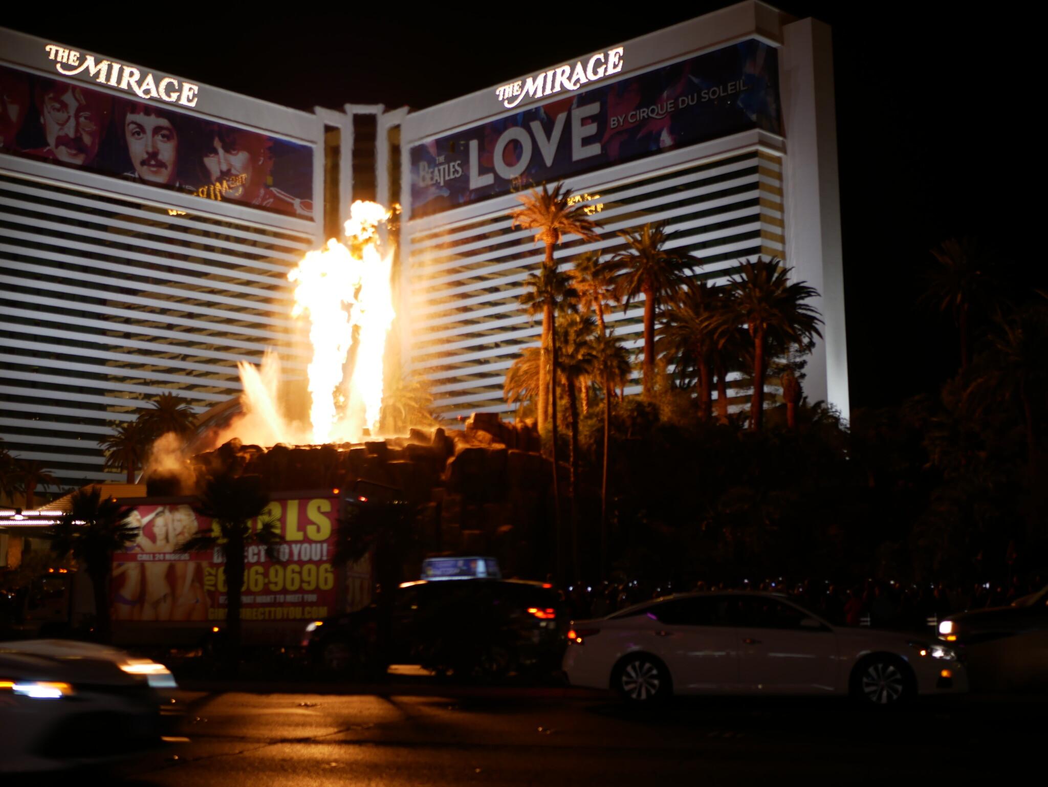 Feuershow am Mirage Casino