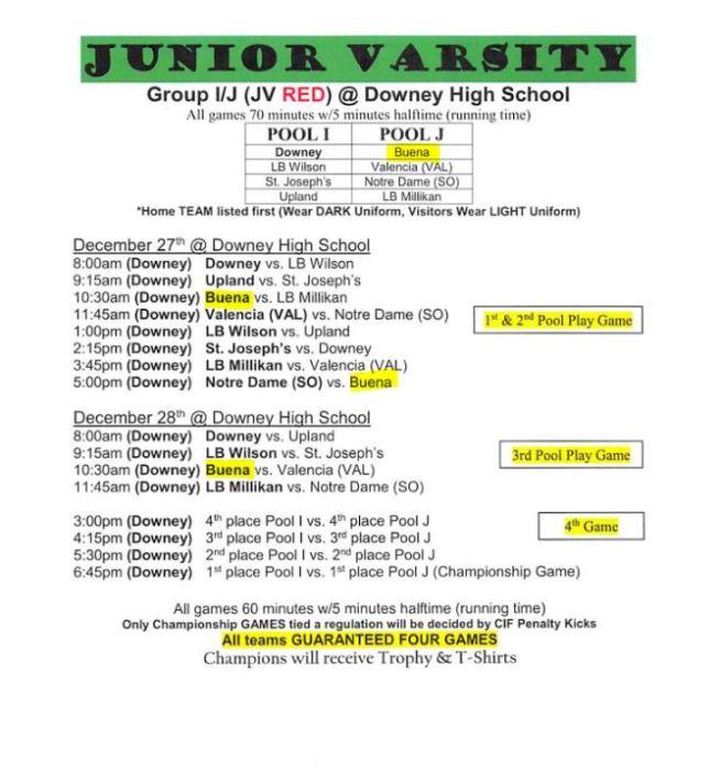 JV No Orange County Classic Tourney