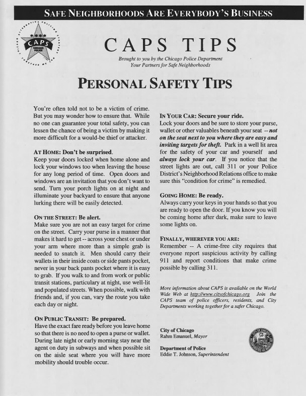 CAPS Safety Tips