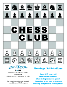 Chess Club @ Buena Vista Public Library | Buena Vista | Colorado | United States