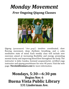 Monday Movement - Qiqong @ Buena Vista Public Library | Buena Vista | Colorado | United States