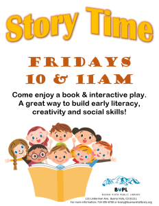 Story Time - 11 AM @ Buena Vista Public Library | Buena Vista | Colorado | United States