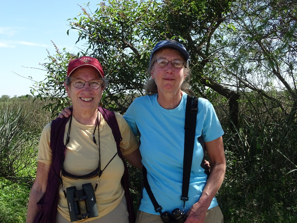 Edie and Gail birding for the first time in Argentina, November 2019.