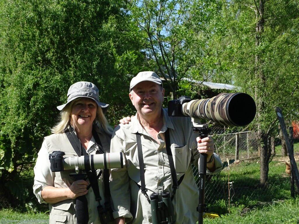 John & Maggie from the UK, birding at Ceibas, October 2018.