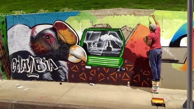 Street Art des quartiers Sud de La Paz en bolivie