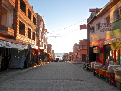 Copacabana en bolivie ruelle