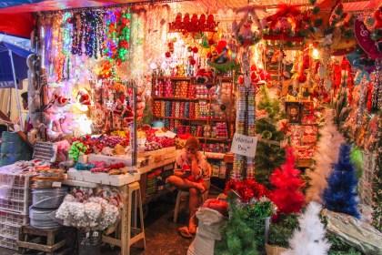 visiter Manille Chinatown décor de noel