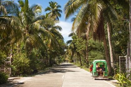 Route General Luna - île de Siargao aux philippines