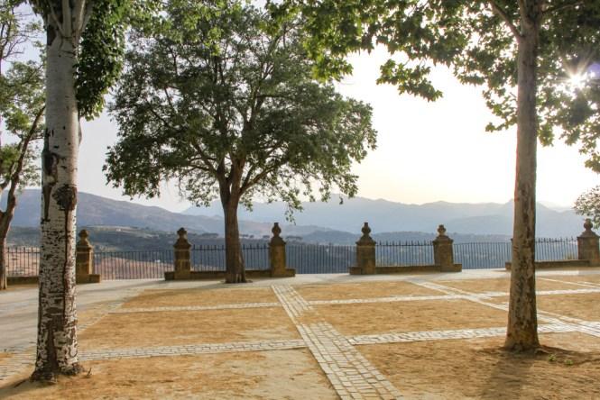 visiter Ronda en andalousie Parc de Alameda del Taj