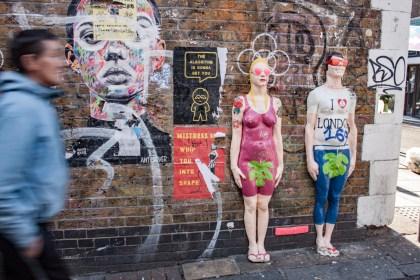 personnage Brick Lane Street Art Un week end a Londres