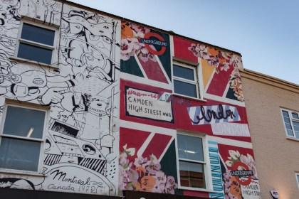 mur Camden Market Un week end a Londres