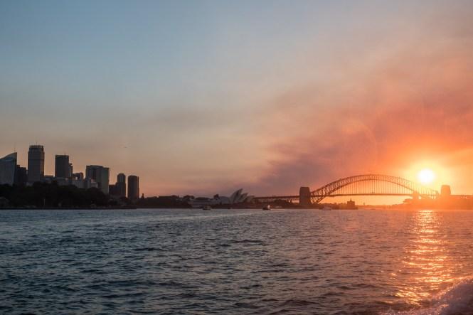 pont de Sydney Harbour bridge soleil