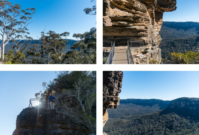 Three-Sisters-Visiter-les-Blue-Mountains-passerelle