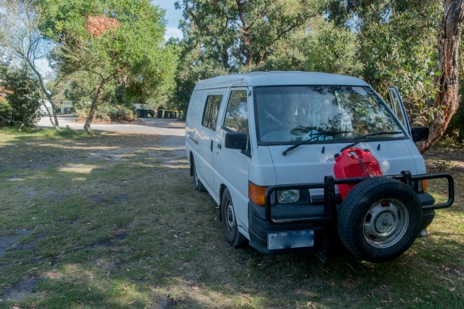 Shallow Inlet Campground Wilsons Promontory van